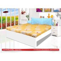 SPREI SUPER KING ALL NEW MY LOVE FITTED 200X200 DANDELION +free masker