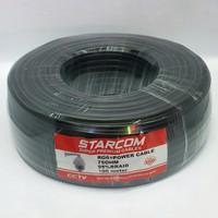 Cable Coaxial Camera Cctv Starcom RG 6 + Power 100 Meter 95% Braid