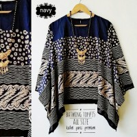 Batwing top batik plus size blouse