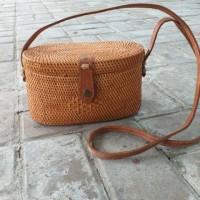 Tas Rotan Persegi cantik asli lombok Handmade