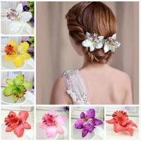 Terbaik Jepit Rambut Model Bunga Anggrek Warna Warni untuk Aksesoris