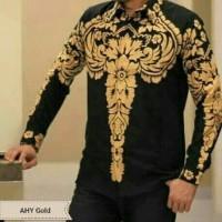 AHY gold Kemeja Batik Solo Full Furing By Dillan