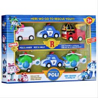 MAINAN FIGURE ROBOCAR POLI SET ISI 6