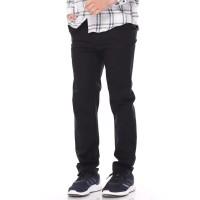 DailyOutfits Chino Celana Panjang Pria Hitam Casual Premium Quality - S