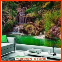 3D Wallpaper Dinding | Wall Sticker Custom | Air Terjun Waterfall
