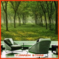 3D Wallpaper Dinding | Wall Sticker Custom | Hutan Forest 4
