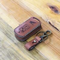 sarung remote kunci cover honda vario 150 coklat muda