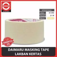 Daimaru Masking Tape Lakban Kertas Besar Warna Crem 48MM X 21 METER