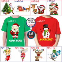 Kaos Dewasa Natal Free Nama Banyak Motif