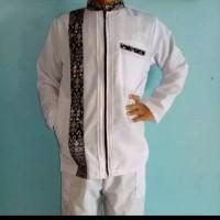 baju koko jaket kombinasi batik