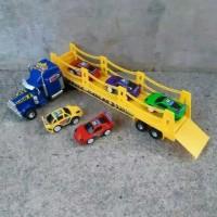 mainan truck trailer-mobilan trac bawa mobil
