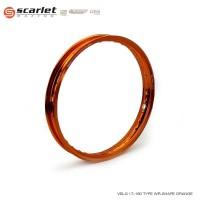 SCARLET RACING velek velg motor ring 17 160 WR shape Orange