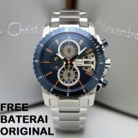 ALEXANDRE CHRISTIE AC 6532 AC6532 PRIA SILVER BLUE CHRONO ORIGINAL