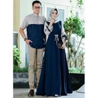 Baju Pasangan Pria wanita Kemeja Gamis Busana Couple Muslim Couple Ye