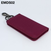 EMDS02 Dompet STNK Motor Mobil - gantungan kunci keychain merah marun