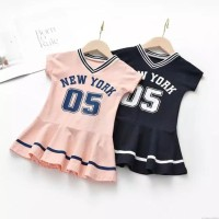 dress anak perempuan / new york dress anak / sports dress anak import
