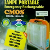 Lampu Emergency LED Lampu Darurat HK6L / HK 6 LED CMOS