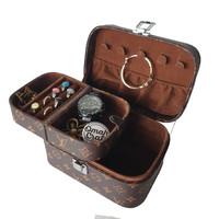 LV MONO Kotak Penyimpanan Cincin Kalung Emas + Jewelry and Accesories