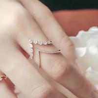 Cincin wanita zircon perhiasaan fashion wanita ring swarovski
