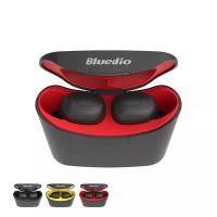 Bluedio T-Elf TWS Bluetooth Headset Earphone 5.0 Wireless - Red