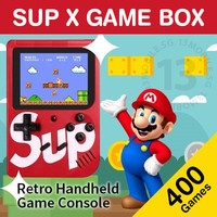 SUP Game Box PLUS Gameboy 400 Retro FC Games Player Gamebot Nintendo X - Merah