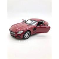 Welly Diecast - Mercedes Benz AMG GT Skala 1:34-39 (Merah)