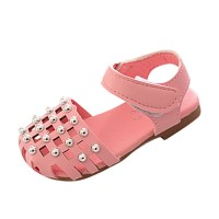 Newborn Infant Baby Girls Hollow Anti-Slip Shoes Soft Sole Pearl Singl