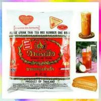 Terlaris Thai Tea Number One Brand Cha TraMue Brand Thailand 400 Gram