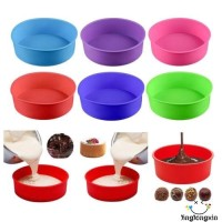 """New ADN-6/8/9"""" Silicone Round Bread Mold Cake Pan Muffin Bakeware"""