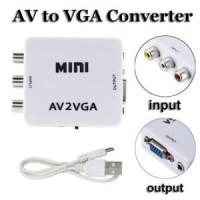 SKU-1084 CONVERTER AV TO VGA BOX MINI / RCA TO VGA / AV2VGA