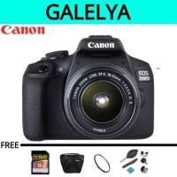 kamera Canon Eos 2000D Kit 18-55mm III PAKET LENGKAP