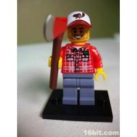lego 8805 minifigure seri 5 lumberjack