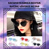 Kacamata gaya/kekinian/hits/bentuk kucing/warna warni/retro/korea