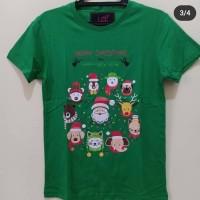Kaos LCC Merry Christmas Hijau Mega Size
