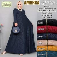 Baju Gamis Busui Jumbo Modern Murah Wanita Terbaru Amorra Long Dress