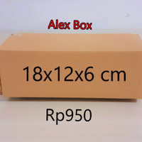 kardus karton box , uk. 18x12x6 cm.........