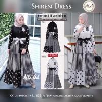 Baju gamis cantik bahan katun motif modern terbaru - Shiren