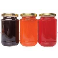 Botol Jar Toples Kaca : 330ml Bulat, penutup SENG