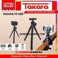Tripod Mini Takara FP-666 Ballhead Gorillapod Camera DSLR/Smartphone