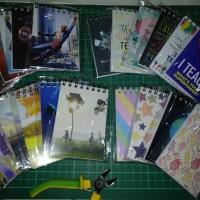 Custom mini notebook 7x10cm dg packing plastik OPP seal