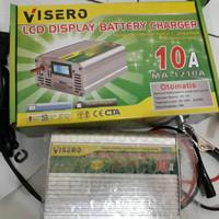 visero digital display charger accu 12v 10a otomatis