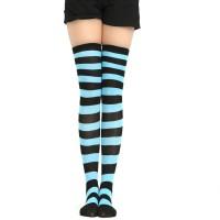 Kaos kaki cosplay high school girl joshikousei hitam biru muda panjang