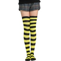 Kaos kaki cosplay high school girl joshikousei hitam kuning panjang