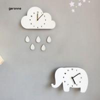 GR Kaka Nordic Jam Dinding Kayu Gantung Motif Awan Gajah untuk