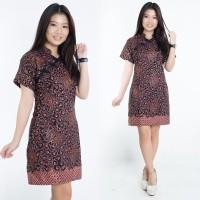 Dress Batik Jumbo Kira Shortdress Cheongsam Wanita