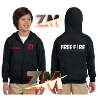 JAKET HOODIE ZIPPER ANAK FREEFIRE GARENA GAME SWEATER GAMES FREE FIRE