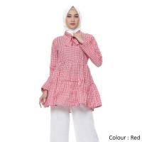 Atasan Muslim Original   Nadine Tunik   Blouse Wanita   Tazkia Hijab