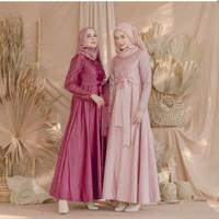 ALETHA DRESS brukat/ FASHION WANITA / dress brukat/ baju gamis brukat
