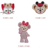1 set 3 pcs Iron patch bordir tempel duffy bear disney gelatoni import