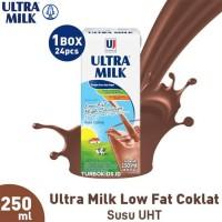 Susu UHT Ultra Milk Low Fat Coklat 250 ml isi 24 pcs
